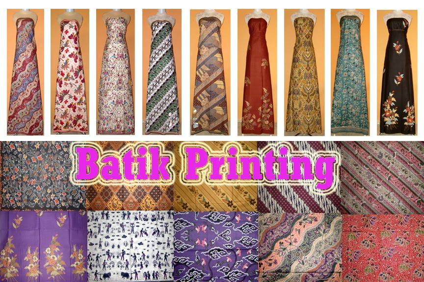 batik sablon atau batik printing adalah salah satu jenis hasil proses ...