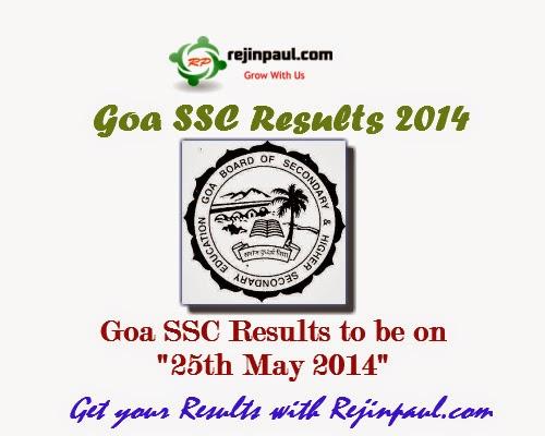 Goa Board Exam Results 2014 - SSC Results 2014 Goa
