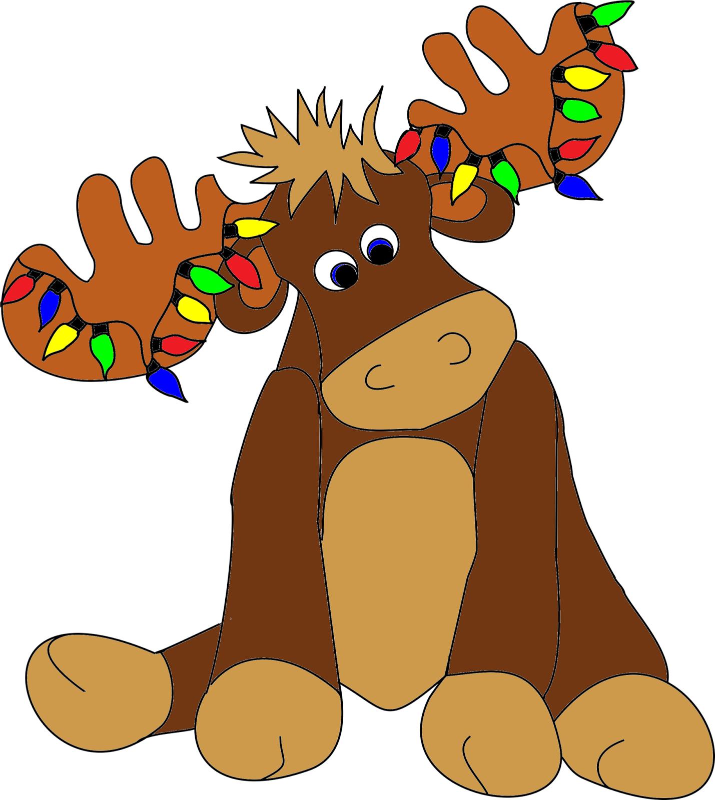 christmas moose clipart photo1 - Christmas Moose