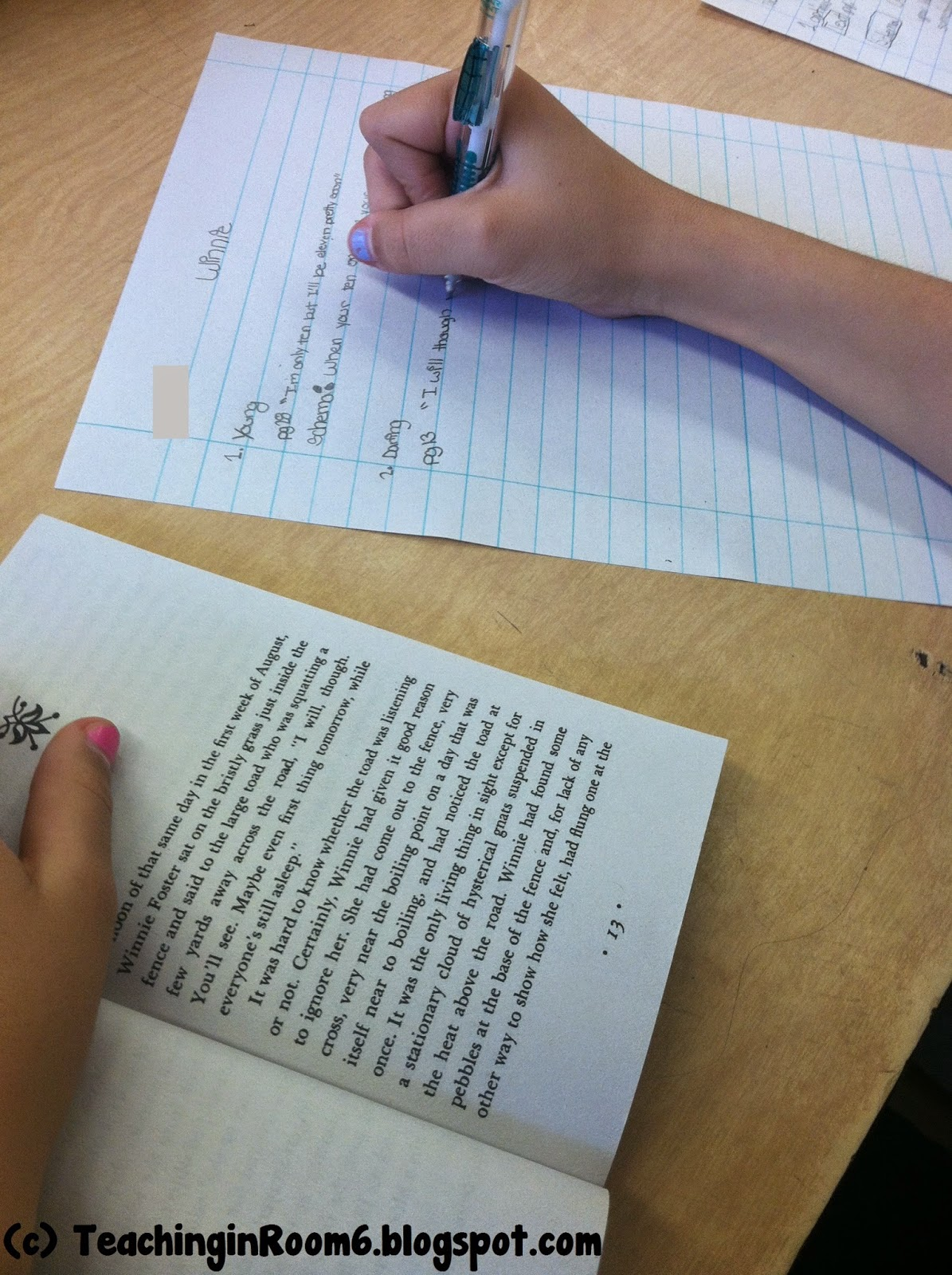 How would you create a list using words from text evidence? Grammar wise?