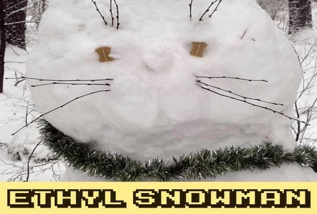 Ethyl Snowman