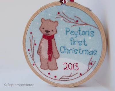 personalized baby's first christmas 2013 holiday ornament