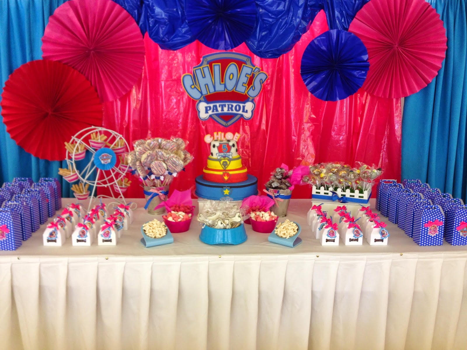 Ideas etc mesa paw patrol - Ideas decoracion fiestas ...