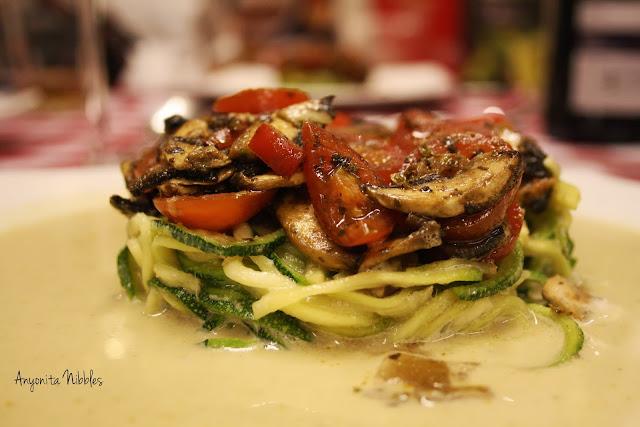 A raw Thai green curr inspired dish
