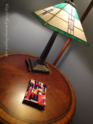 my kindle cover with my stained glass lamp
