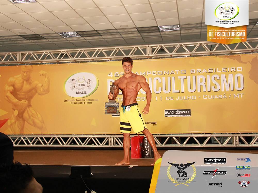 O atleta mineiro foi campeão da categoria Men's Physique até 1,78 m. Foto: Divulgação