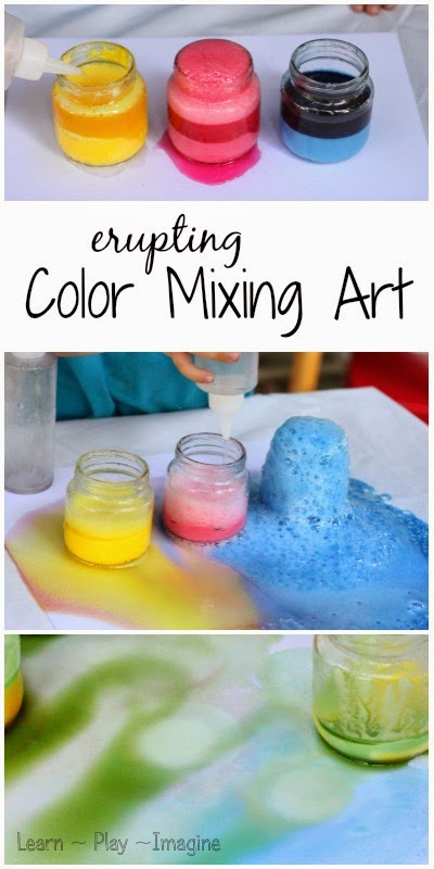 How to make gorgeous art with color mixing eruptions