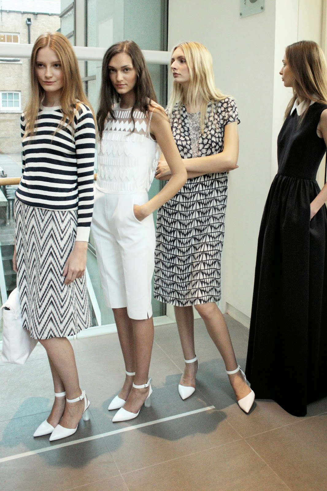jasper conran models backstage ss14 collection