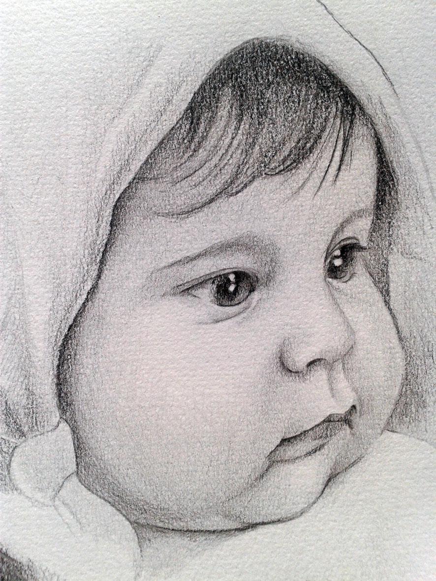 Rostros de bebés a lapiz - Imagui