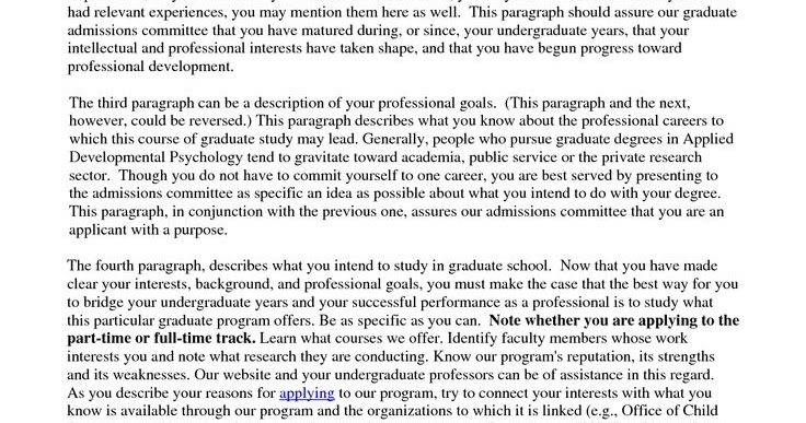 Example personal statement graduate school biology – Personal Statement for Graduate School