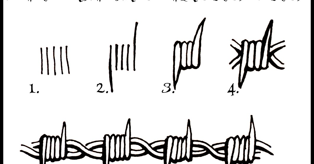 Simple Barbed Wire Drawing
