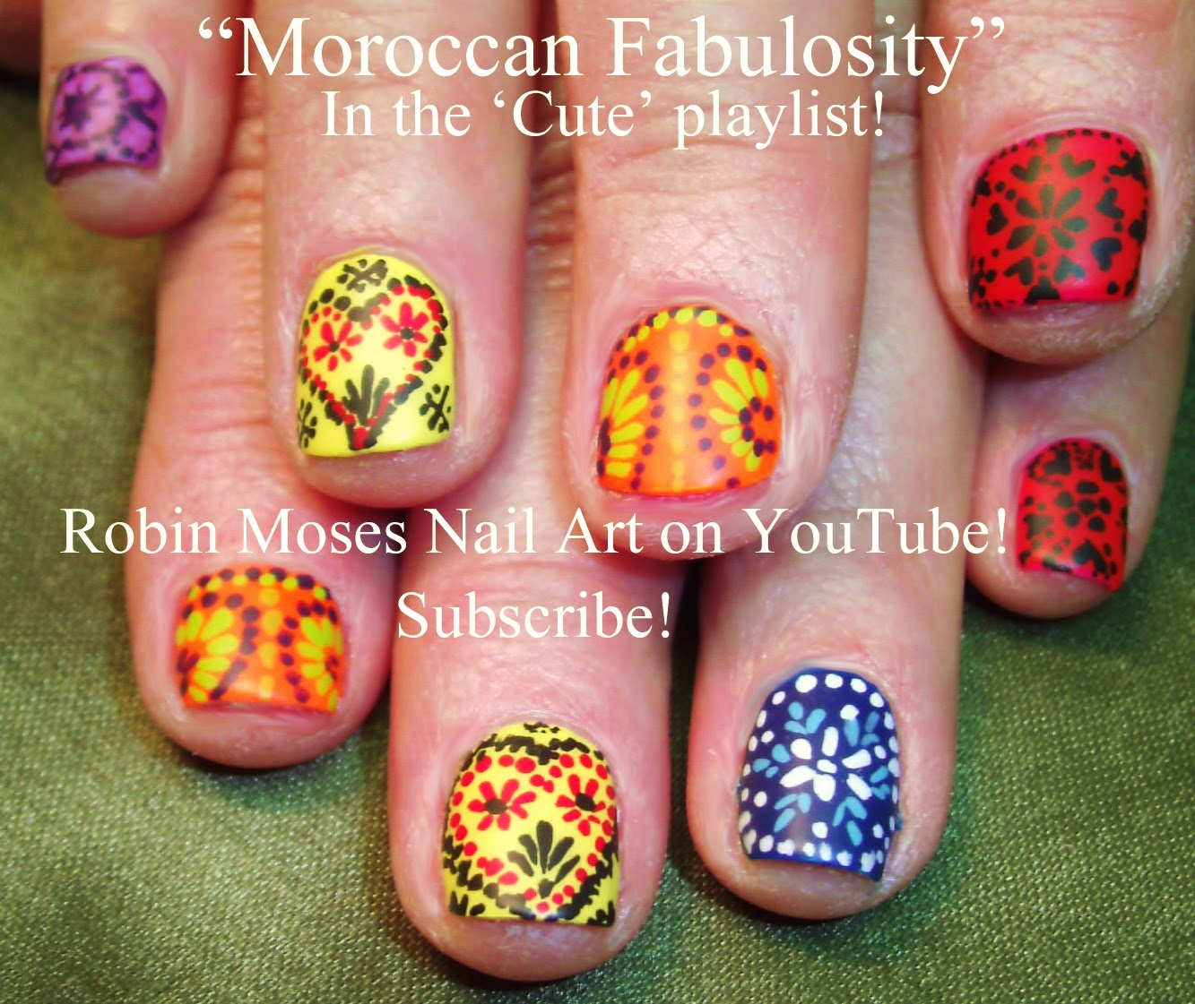 Robin Moses Nail Art Quotmosaicquot Quothennaquot Quotnail Artquot Quotmosaic Nail Art