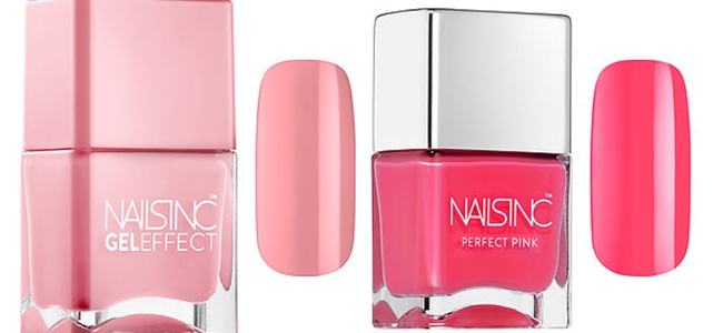 "SPRING 2015 MAKEUP: 30 Fabulous New Releases.Prolece 2015, sminka, novo na trzistu.New from Sephora.Nails INC. ""Gel effect"".Nails INC. ""Perfect pink"""