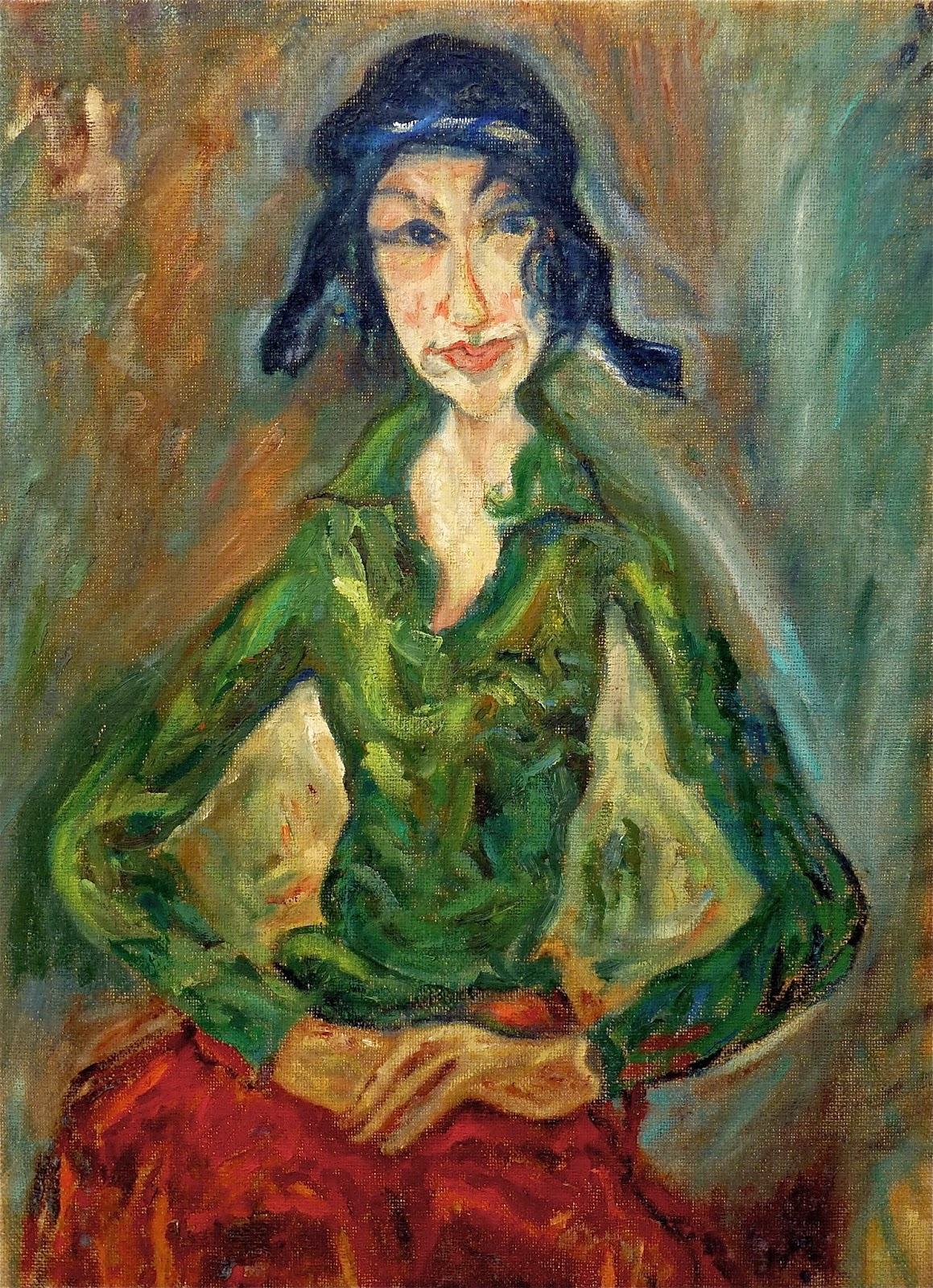 Art Mary M Payne The Woman In Green By Chaim Soutine