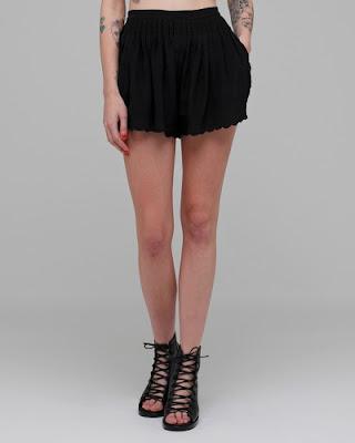 Scallop Hem Eyelet Shorts