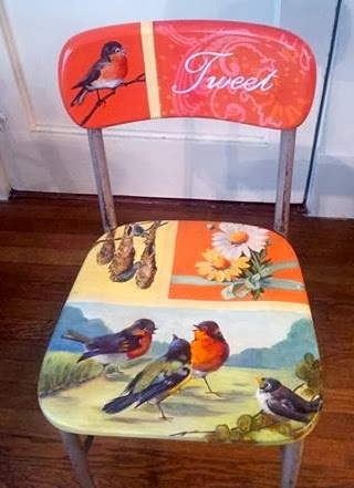 Hand Painted Wooden Chairs By Rainey