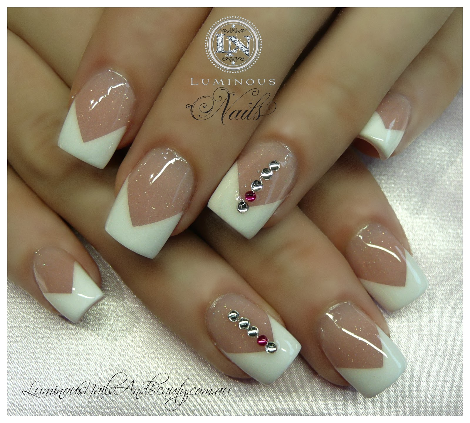Acrylic Nails French: French V Sculptured Nails