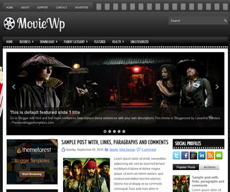 MovieWp 3 Column Blogger Template