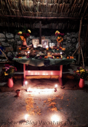 Altar dia de muertos mexico yucatan