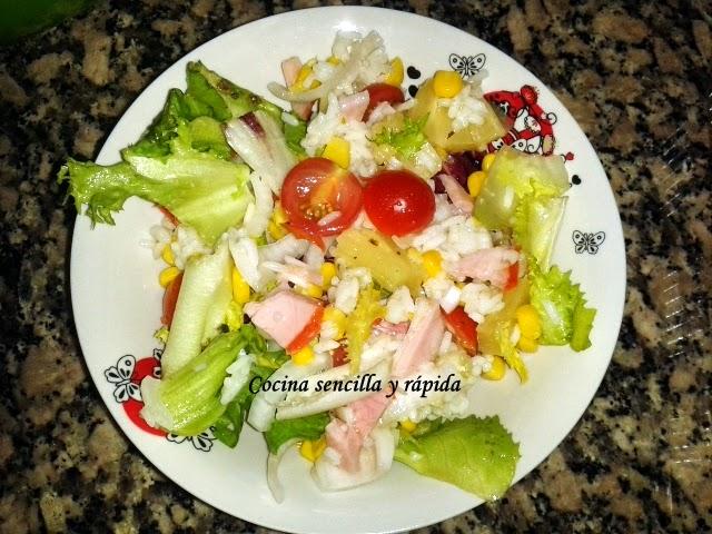 Cocina sencilla y r pida ensalada de arroz for Cocina rapida y sencilla