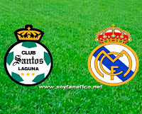 Amistoso Real Madrid vs Santos Laguna online