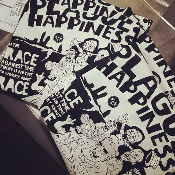 Dirty donuts x Plague Of Happiness T-shirt