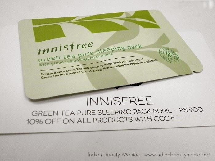 Innisfree Green Tea Pure Sleeping Pack review