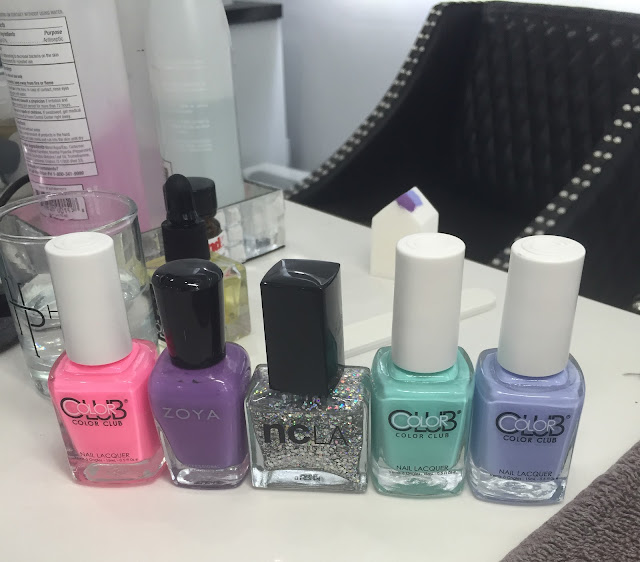 The House of Polish, nail salon, nail art, nail polish bottles, Zoya, Color Club, NCLA, glitter ombre, Nikki Diamond, Frania Hernandez, nail polish, nail lacquer, nail varnish, #ManiMonday, manicure