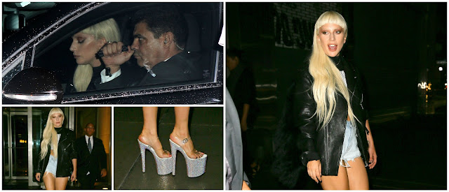 Lady Gaga llegando al desfile de Alexander Wang
