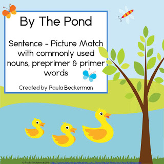 https://www.teacherspayteachers.com/Product/By-The-Pond-Sentence-Picture-Match-1594188