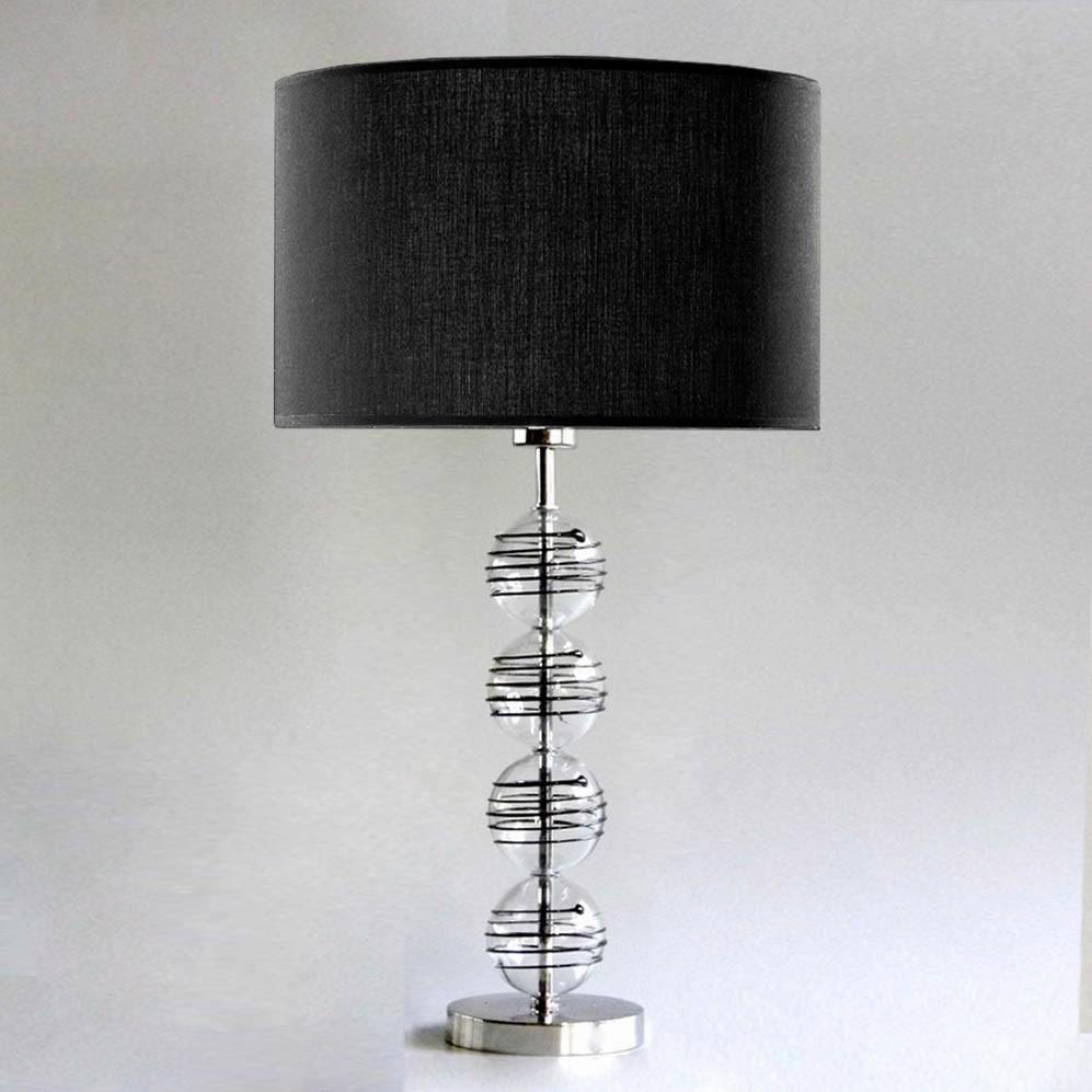 tischleuchten aus glas und kristall tischleuchte aus glas wrapped balls 80. Black Bedroom Furniture Sets. Home Design Ideas