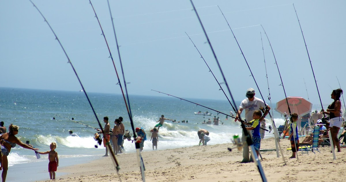 The rv kids fish from delaware seashore state park and for Delaware surf fishing