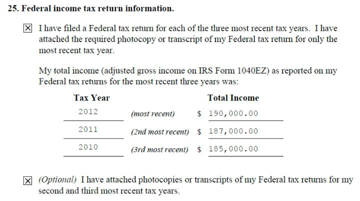 income tax return data