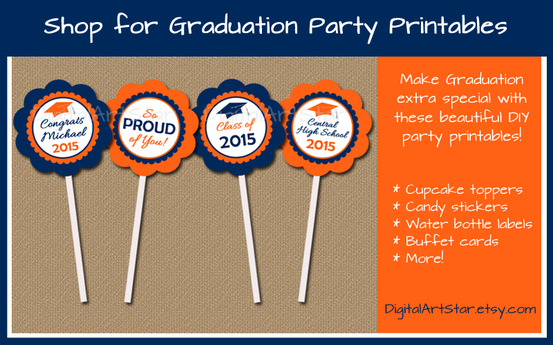 Shop for Graduation Party Printables at DigitalArtStar