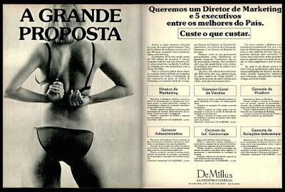 propaganda De Millus anos 70; Anos 70.  Moda anos 70; propaganda anos 70; história da década de 70; reclames anos 70; brazil in the 70s; Oswaldo Hernandez