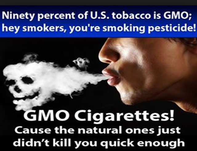Ninety Percent Of U.S. Tobacco Is GMO; Hey Smokers, You're Smoking Pesticide!