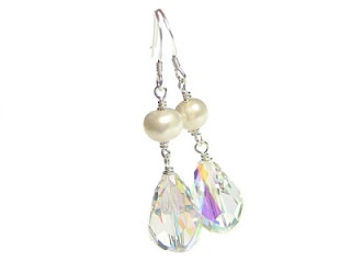 crystal drop earrings uk