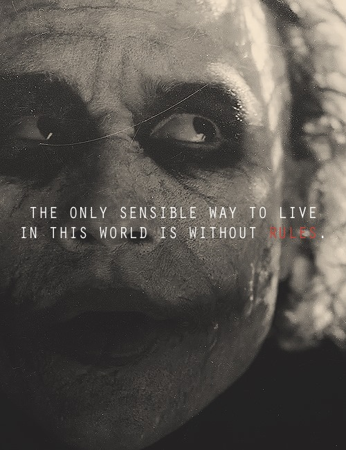 Best joker quotes quotesgram - By The Joker Quotes Quotesgram