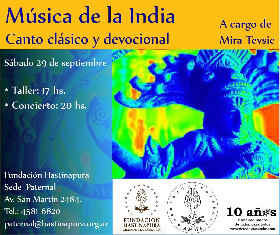M sica cl sica de la india taller y concierto de m sica de la india s b 29 9 12 - Taller de las indias ...