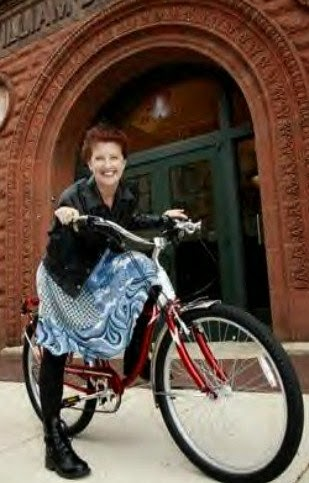 Caroline, The Bicycle And Your Author, Patricia Loya