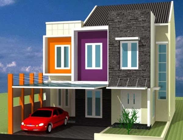pilihan warna rumah minimalis modern irulis informasi