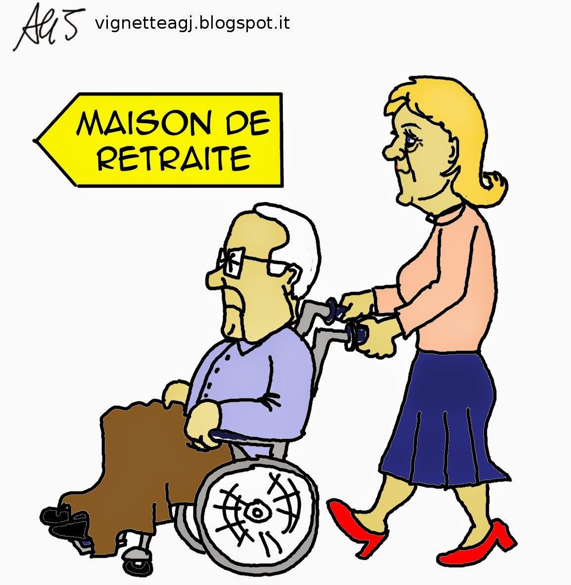 Marine Le Pen, Fn, satira, vignetta