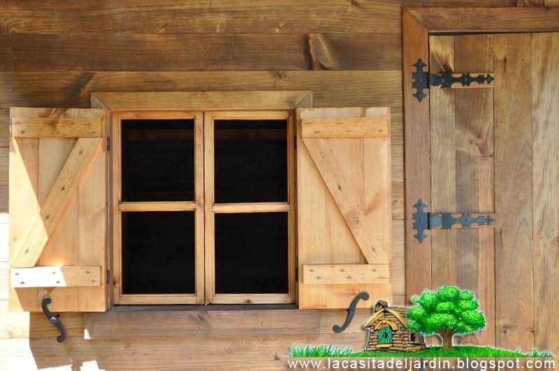 D a 24 ventanas y contras la casita del jard n - Hacer ventana de madera ...