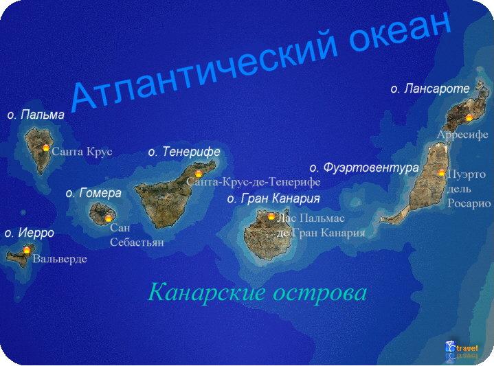 фото и названия канарских островов
