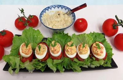 طريقة عمل البيض المحشي, اكلات هنديه, البيض المحشي, طريقة عمل بيض, بيض محشي