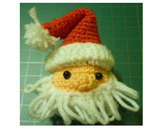Crochet amigurumi Santa Claus cute pattern hanging ornament gift