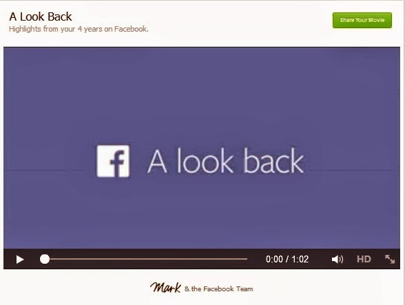 make Look Back video on facebook