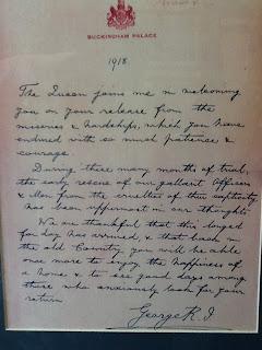 image Rare 1918 Royal Commendation Letter