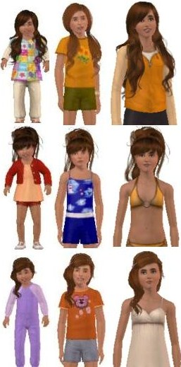 Sims 3 toddler child teen hairstyles