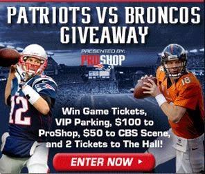 Patriots - Broncos Giveaway